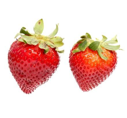 two-strawberries